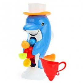 image of BABY BATH TAPS SQUIRT WATER BUTTRESSED SPRAY SHOWER TOY DUCK SHAPE (BLUE) -