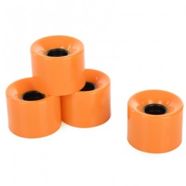image of 4PCS 60 X 45MM OUTDOOR PU MADE SKATEBOARDING WHEELS (ORANGE) -