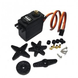 image of 1PCS MG09R 360 DEGREE HIGH TORQUE METAL GEAR RC SERVO MOTOR HELICOPTER CAR BOAT 13KG (BLACK) 0