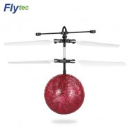 image of FLYTEC TY935 KIDS RC FLYING INFRARED INDUCTION HELICOPTER BALL (RED) 0