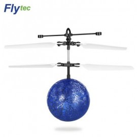 image of FLYTEC TY935 KIDS RC FLYING INFRARED INDUCTION HELICOPTER BALL (BLUE) 0