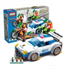 image of 9311 KIDS ADULT EDUCATIONAL TOY BUILDING BRICKS POLICE SERIES BLOCKS ASSEMBLED GIFT (COLORMIX) 0