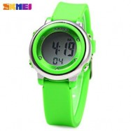 image of SKMEI 1100 COLORFUL LED DIGITAL WATCH CHILDREN SPORT WATER RESISTANT WRISTWATCH (GREEN) 0