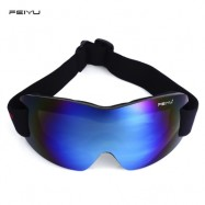 image of FEIYU UV PROTECTION ANTI-FOG BIG SKIING GOGGLES MASK MEN WOMEN SNOWBOARDING CYCLING GLASSES (BLUE) -