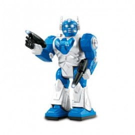 image of CHILDREN ELECTRIC TOY BOY WILL WALK WITH COOL LIGHT MUSIC DANCING ROBOT (BLUE) 0