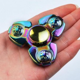 image of COLORFUL STRESS RELIEF TOY FINGER GYRO SPINNER (COLORFUL) 7*7CM