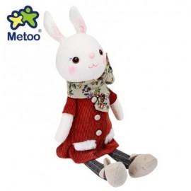 image of METOO TIRAMITU SOFT STUFFED BUNNY PLUSH RABBIT DOLL TOY BIRTHDAY CHRISTMAS GIFT (CLARET) 44.00 x 16.00 x 8.00 cm