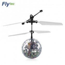 image of FLYTEC TY935 RC FLYING INFRARED INDUCTION HELICOPTER BALL (TRANSPARENT) 0