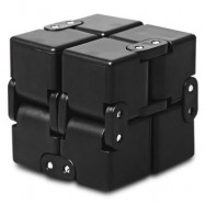 image of ALLOY FIDGET CUBE SHAPE FUNNY STRESS RELIEVER ADULT FIDGETING TOY (BLACK) -