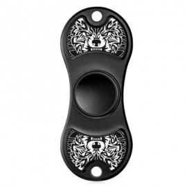 image of FIDDLE TOY ALUMINIUM ALLOY PATTERNED FIDGET SPINNER (BLACK WHITE) -
