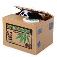 image of 11.5CM ITAZURA COIN BANK PANDA SAVING POT COIN BANK FOR COIN COLLECTION (BROWN) -