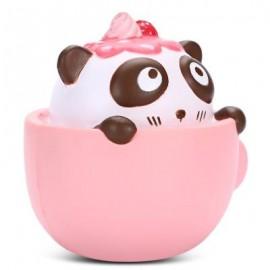 image of SQUISHYFUN PU SLOW RISING SIMULATE CUTE PANDA COFFEE CUP TOY (PINK) -