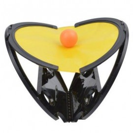 image of FUNNY GRASPING THE BALL RACKET TABLE TENNIS KID CHILD OUTDOOR INDOOR SPORT TOY (BLACK) -
