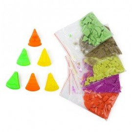 image of FUNNY 7 COLORS SPACE SAND TOY SUIT FOR CHILDREN (COLORFUL) 3