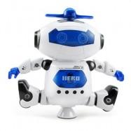 image of KIDS ELECTRONIC WALKING DANCING ROBOT WITH MUSIC LIGHT FUN TOY (BLUE) -