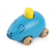 image of YOULEBI MUSIC MICE SQUEAKING WOODEN TOYS KIDS GADGET (BLUE) One Size