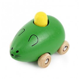 image of YOULEBI MUSIC MICE SQUEAKING WOODEN TOYS KIDS GADGET (GREEN) One Size