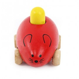 image of YOULEBI MUSIC MICE SQUEAKING WOODEN TOYS KIDS GADGET (RED) One Size