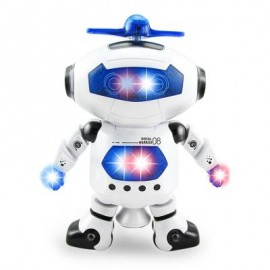 image of ELECTRONIC WALKING DANCING ROBOT WITH MUSIC LIGHT FUN TOY 21.50 x 19.00 x 9.50 cm