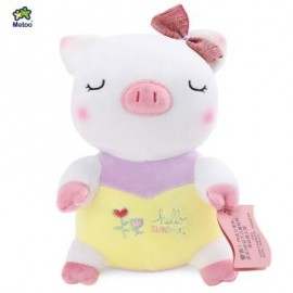 image of METOO STUFFED LITTLE PIG PLUSH DOLL TOY BIRTHDAY CHRISTMAS GIFT FOR BABY (YELLOW) 24.00 x 18.00 x 11.00 cm