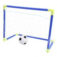 image of ANJANLE KIDS PORTABLE FOOTBALL NET SET INDOOR OUTDOOR SPORT TOY DEVELOPMENTAL GAME (COLORMIX) One Size