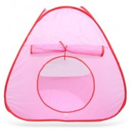 image of KIDS PORTABLE FOLDING OCEAN BALL TENT OUTDOOR SPORT TOY (PINK) One Size