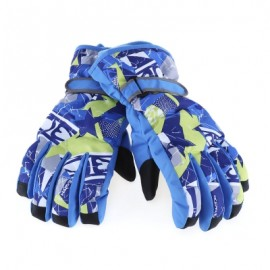 image of MARSNOW PAIRED WATERPROOF WINDPROOF THICKEN WARM PROTECTION ANTI-SLIP SKIING MOUNTAINEERING GLOVES (BLUE) XL