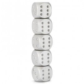 image of 5PCS ALUMINUM ALLOY 6-SIDED NOVELTY ADULT DICE WITH DECORATION PIT GAME TOY (SILVER) -