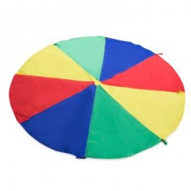 image of 2M COLORFUL CHILDREN KIDS RAINBOW UMBRELLA PARACHUTE TOY EARLY EDUCATION DEVELOPMENTAL OUTDOOR SPORTS GAME (COLORMIX) -
