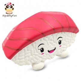 image of SQUISHYFUN PU SPONGE SLOW RISING SIMULATE SUSHI SQUEEZE TOY (RED) -