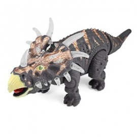 image of RONGKAI KIDS SIMULATION TRICERATOPS MODEL WITH LIGHT MUSIC (DEEP GRAY) -