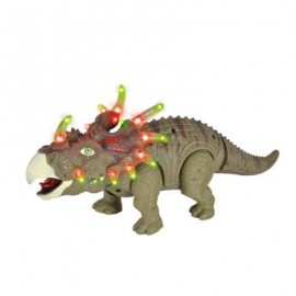 image of RONGKAI KIDS SIMULATION TRICERATOPS MODEL WITH LIGHT MUSIC (GREEN) -