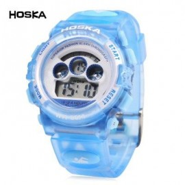 image of HOSKA H001S CHILDREN LED DIGITAL WATCH WATER RESISTANCE DAY CHRONOGRAPH LED SPORTS WRISTWATCH (BLUE) 0