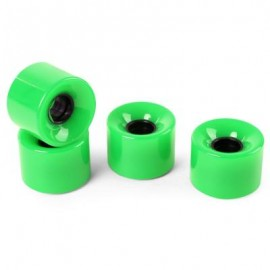 image of 4PCS HIGH STRENGTH LONGBOARD SKATEBOARD WHEELS - 60 X 45MM (GREEN) 13.00 x 12.00 x 4.50 cm