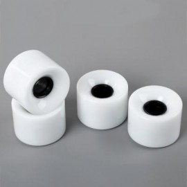 image of 4PCS HIGH STRENGTH LONGBOARD SKATEBOARD WHEELS - 60 X 45MM (WHITE) 13.00 x 12.00 x 4.50 cm
