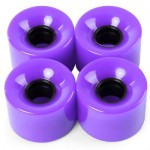 4PCS HIGH STRENGTH LONGBOARD SKATEBOARD WHEELS - 60 X 45MM (PURPLE) 13.00 x 12.00 x 4.50 cm