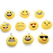 image of 10PCS MINI EXPRESSION CUTE EMOTION SMILEY CUSHION STUFFED PLUSH TOY (YELLOW) -