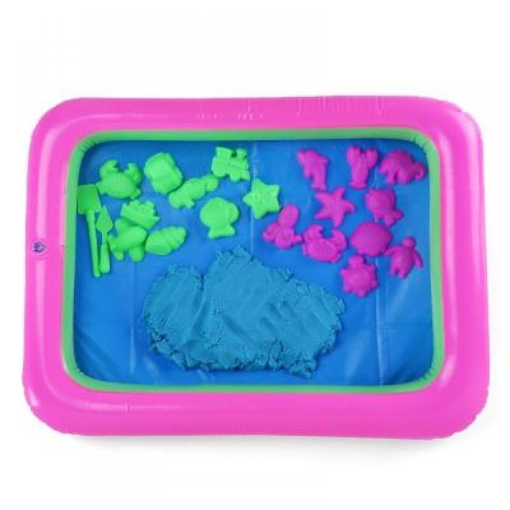 COLORFUL MARINE ANIMAL MOLD SPACE SAND TOY FOR CHILDREN (BLUE) -