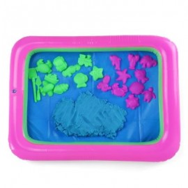 image of COLORFUL MARINE ANIMAL MOLD SPACE SAND TOY FOR CHILDREN (BLUE) -