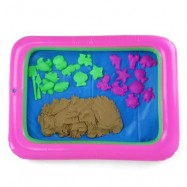 image of COLORFUL MARINE ANIMAL MOLD SPACE SAND TOY FOR CHILDREN (BROWN) -