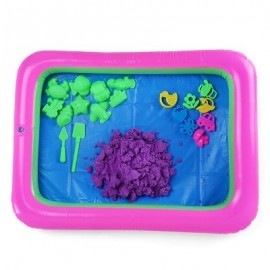 image of COLORFUL FLOWER MOLD SPACE SAND AMAZING TOY FOR CHILDREN (PURPLE) -