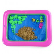 image of COLORFUL FLOWER MOLD SPACE SAND AMAZING TOY FOR CHILDREN (BROWN) -