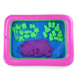 image of COLORFUL PRINCESS CASTLE MOLD SPACE SAND TOY FOR CHILDREN (PURPLE) -
