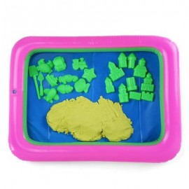 image of COLORFUL PRINCESS CASTLE MOLD SPACE SAND TOY FOR CHILDREN (YELLOW) -