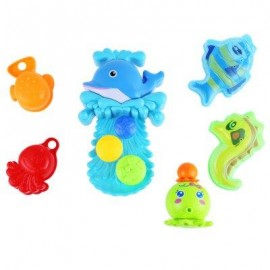 image of BABY DOLPHIN SQUIRT WATER BATH BUTTRESSED SPRAY SHOWER TOY SET (COLORMIX) -
