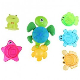 image of BABY TURTLE SQUIRT WATER BATH BUTTRESSED SPRAY SHOWER TOY SET (COLORMIX) -