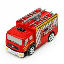 image of CREATIVE ABS 1:58 MINI RC FIRE ENGINE WITH REMOTE CONTROL (RED) WATER-TANK