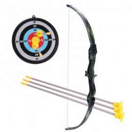 image of CAMOUFLAGE TOY BOW AND ARROW PLAY CAMPING CHILDREN ARCHERY SET FOR KIDS GIFT (COLORFUL) 0