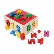 image of WOODEN PUZZLE SHAPE MATCHING TRAILER EDUCATIONAL TOY (COLORMIX) DIGITAL COGNITION