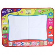 image of CHILDREN DOODLE DRAWING MAT + MAGIC PEN EDUCATIONAL TOY (COLORMIX) One Size